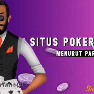 Situs Web Poker Terpercaya Menurut Para Bettor